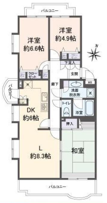 ライブタウン湘南野比 4号棟 301号室