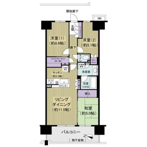 プレミアムフォート柏 3階