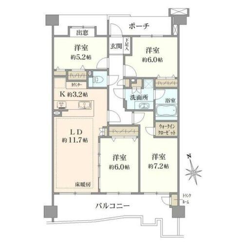 グランディオシティ武蔵浦和 5階 4LDK